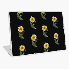 'Sunflower tshirt helianthus botantical print' Laptop Skin by Laptop Covers, Free Stickers, Macbook Air 13, Laptop Skin, Vinyl Decals, Vibrant Colors, Classic T Shirts, My Arts, Art Prints