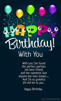 Happy birthday love poems birthday memes pinterest happy birthday is a very special day for every individual and a golden opportunity to wish your lover in a unique style almost all the friends and family members m4hsunfo