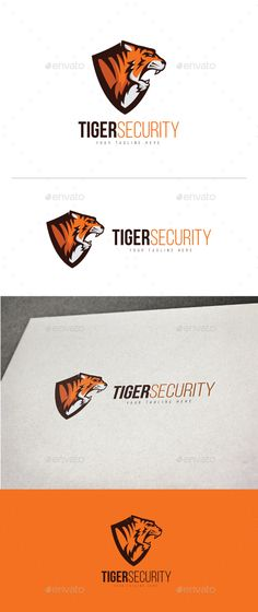 Tiger Security Logo — Vector EPS #basketball #tiger • Download ➝ https://graphicriver.net/item/tiger-security-logo/19672012?ref=pxcr