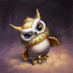 Halloween Charaktere für Klondike Game on Behance # Hair Cute Animal Drawings, Animal Sketches, Cute Drawings, Owl Drawings, Owl Photos, Owl Pictures, Owl Pics, Cute Owls Wallpaper, Wallpaper Art
