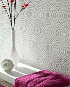 Curvy Paintable Wallpaper from www.grahambrown.com