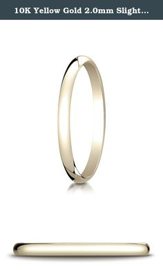 10K Yellow Gold 2.0mm Slightly Domed Traditional Oval Wedding Band Ring for Men & Women Size 4 to 15. This remarkable 10K Yellow Gold 2.0mm band features a slightly domed surface and is flat on the inside for a traditional profile.