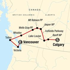 Sta travel canada trip full itinerary Route map for National Parks of the Canadian Rockies Westbound (NCRU) Rv Travel, Canada Travel, Places To Travel, Travel Route, Travel Goals, Easy Rider, Alberta Canada, Banff Canada, Lonely Planet