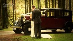 Vintage Wedding Car in Gougane Barra Forest Park, Gougane Barra, Ireland #ireland #wedding #vintage