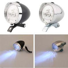 3 LED Flashlight Lamp Bicycle Headlight Bike Front Light High Quality Retro Headlights Vintage Flashlights Lamps #Affiliate