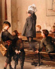 """Futur savant"", 1880. Henri Jules Jean Geoffroy (1853-1924), French painter. #castig"