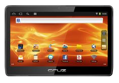 """Velocity Micro Cruz Tablet T410 - 10-Inch Android Tablet with Flash. 10"""" capacitive screen provides more screen area for a more complete tablet experience. Download from a library of thousands of apps via Amazon Appstore, preinstalled. Flash enabled, pre-installed. Quick Office Full version and Angry Birds preinstalled. Front facing camera for video conferencing."""