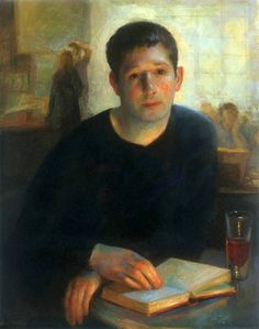 """""""Jeremy"""" by Juliette Aristides Juliette Aristides, People Reading, Classical Realism, American Artists, Traditional Art, Art Lessons, Book Lovers, Art Museum, Book Art"""