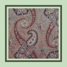 1860s Paisley Print Cross Stitch Pattern: http://www.etsy.com/listing/95531139/1860s-red-green-paisley-pillow-top-cover -- New Design.