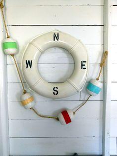 nautical cottage decorating | Cottage Decor. Wood Buoys . Assorted Colors. Gift Idea. Nautical Decor ...