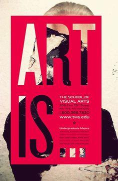 視覺藝術海報的學校