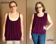 Purple People Eater Before & After by nosmallfeet, via Flickr This girl has a great blog - and innovative ideas!  She also knits and is on Ravelry.