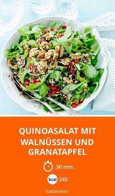 Quinoasalat mit Walnüssen und Granatapfel - smarter - Kalorien: 245 Kcal - Zeit: 30 Min. | eatsmarter.de