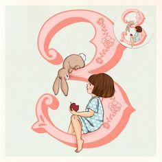 Carte de voeux avec le bouton Belle Belle & Boo 3 ans