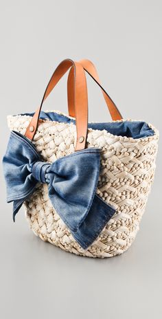 RED Valentino Straw Bow Tote   SHOPBOP
