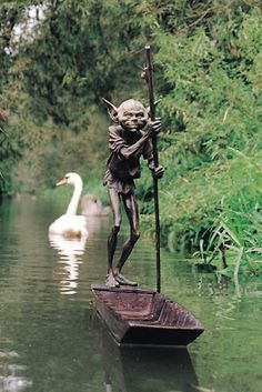 """david goode sculpture inspired by """"a childhood fascination with myths and folklore, and a love of the writings of Tolkein"""""""