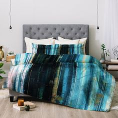 Organic stripes in blue tones with gold make the Paul Kimble Ghost Of Birds Comforter by Deny Designs a rich way to dress your bed. Ocean Bedroom, Bird Design, Duvet Sets, Bedding Collections, Home Decor Accessories, Comforters, Home Goods, Duvet Covers, Interior Decorating