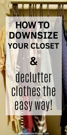 Everyone needs to declutter their closet at some point but all the tips I read are basically the same. Try this unique process to decluttering clothes for a smart but simple way to minimize your wardrobe. It totally works!