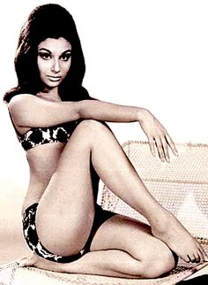 swimsuit photo of Sharmila Tagore 1970's                                                                                                                                                                                 More