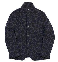 Engineered GarmentsNavy Wool Camo Bedford Jacket