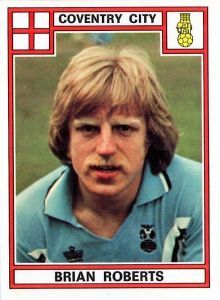 Brian Roberts of Coventry City in 1977.