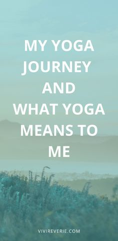 Let's get personal. Yoga has been a part of my sel…