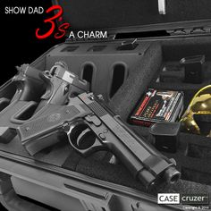 The new Shooting Range Handgun Case proves that 3's a charm. It's a gift that Dad will always treasure. Protect, store, transport. Lockable - lifetime guarantee. Learn more: http://www.casecruzer.com/gun-cases/shooting-range/qdsr-handgun-3pack.html #fathersday #fathersdaygifts #fathersdaygiftideas #fathersdaypresent