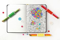 Amazing buttons - adult coloring pages by ColoringNotebook