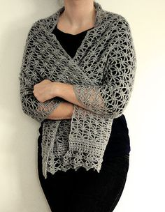 Crochet chal de encaje de ganchillo patrón Pdf por dziergalnia