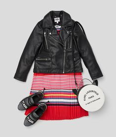 KARL LAGERFELD KIDS SS 2020 Karl Lagerfeld Kids, Striped Dress, Fashion, Bags, Haute Couture, Fashion Styles, Moda, Striped Dress Outfit, Fringe Dress