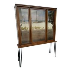 Mid Century Modern Display Cabinet Cupboard China Closet With Hairpin Legs Display Cabinets, Storage Cabinets, Hairpin Legs, China Cabinet, Cupboard, Mid-century Modern, Mid Century, Closet, Furniture