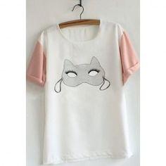 $4.48 Cute Youth Short Sleeve T-Shirt For Women
