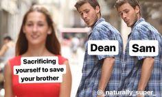 Dean/Sam - Sacrificar a sua vida pra salvar o seu irmão