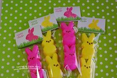 Peeps gifts - Aaron B.    Would be perfect to use the CTMH Peeps stamp set.