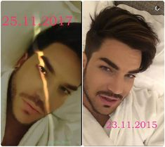 NOW/THEN. November 25, 2017. November 23, 2015.  The Wolf always goes the familiar paths. Or a new turn starts  #adamlambert #adamlambert2017 #adamlambert2015 #glamberts #coincidence