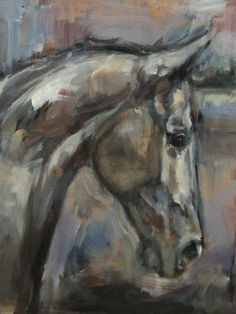 Nina Smart painting - The kind  Gentle Gelding