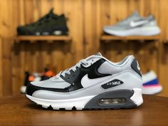 newest b462f 2372c 2018 New Release Nike Air Max 90 Essential Wolf Grey White