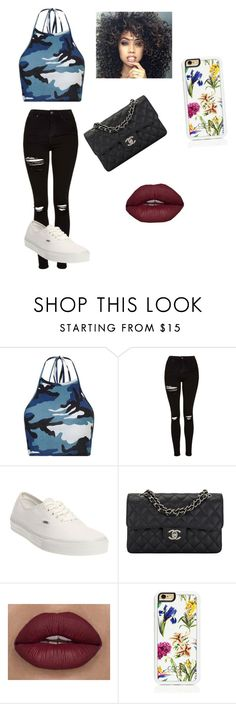 """""""Army💙"""" by adorejlee ❤ liked on Polyvore featuring Topshop, Vans, Chanel and Trelise Cooper"""