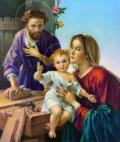 Catholic Picture Print Wood Plaque Holy Family Jesus Mary Joseph Italy Made Blessed Mother Mary, Blessed Virgin Mary, Jesus Mary And Joseph, St Joseph, Religious Images, Religious Art, Prayer For Family, Christian Images, Family Print