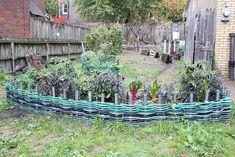 28. Garden Hoses Woven Into an Edging