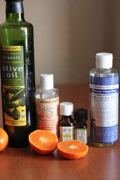 ** I've used this and liked it: Homemade Orange Honey Body Wash 1/4 cup honey 1/2 cup pure castle liquid soap 50 drops essential oil (blogger uses 40 drops of sweet orange oil and 10 drops of rose absolute) 2 tablespoons liquid Vitamin E 1 tablespoon oil (olive, jojoba or grapeseed would work) Add the mixture to a bottle. Shake it up, and wa-la! Homemade body wash minus the sometimes-sketchy ingredients :)
