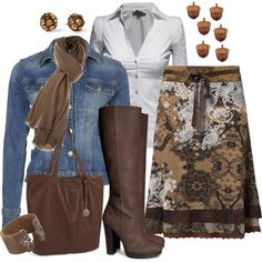 """""""Falling Acorns Fall Outfit"""" by lindakol on Polyvore"""