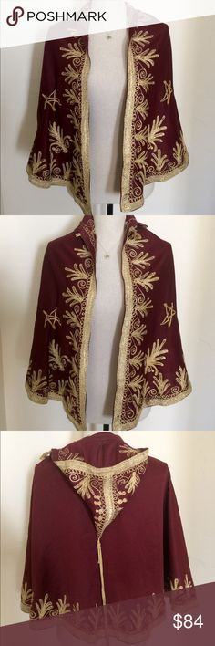 Hand-Made Moroccan Cape Purchased in Morocco. Few small blemishes as can be seen in final pic. Jackets & Coats Capes