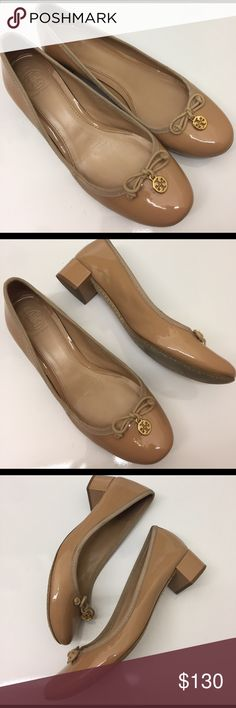 """Tory Burch Nude Kitten Heel Pumps Gently used, in very good condition authentic Tory pumps. Heel is thick and only 1.25"""", so you can last all day in these! Perfect for running around town or in the office! These are gorgeous and super comfortable! Tory Burch Shoes Heels"""