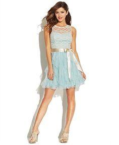 Teeze Me Juniors' Lace Ruffled Dress - Juniors Prom Dresses - Macy's Grad Dresses, Junior Dresses, Dance Dresses, Casual Dresses, Short Dresses, Bridesmaid Dresses, Dresses Dresses, Wedding Dresses, Banquet Dresses