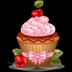 27 Ideas Cupcakes Illustration Birthday For 2019 Cupcake Pictures, Cupcake Images, Cupcake Art, Food Pictures, Cupcake Icon, Easter Cupcakes, Fun Cupcakes, Birthday Cupcakes, Biscuit Cupcakes