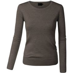 Women Long Sleeve Turtleneck/V-Neck/Crewneck Pullover Sweaters ($19) ❤ liked on Polyvore featuring tops, sweaters, turtle neck sweater, v-neck pullover, crew neck pullover sweater, long sleeve sweater and long sleeve v neck sweater
