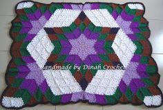 ..❀Dinah's Crochet❀..: Crochet Prairie Star Afghan~tutorial