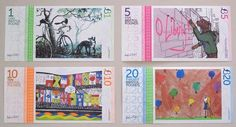 Bristol Pound Souvenir Paper Full Note Set by various artists