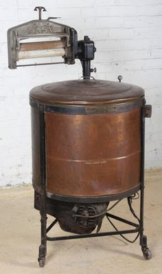 Antique Copper Washing Machine : Lot 253
